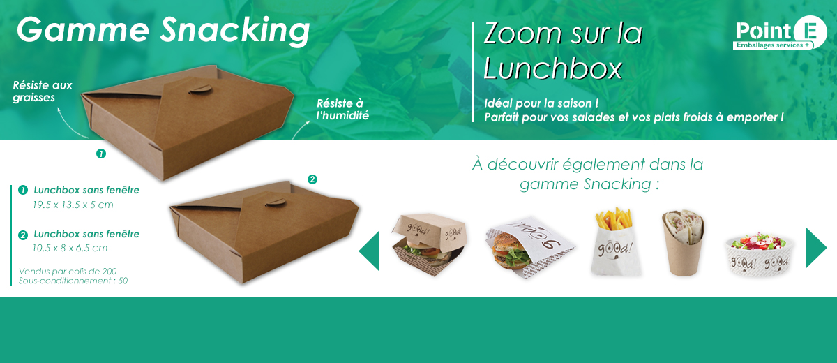 boite lunch box jetable