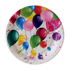 Assiettes carton Party Baloons / Diamètre 23 cm